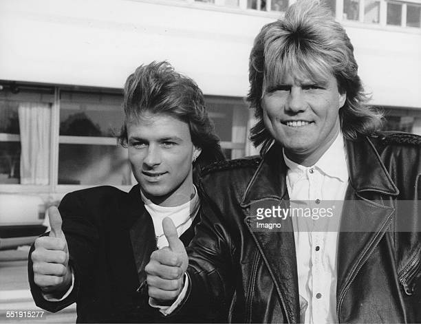 Eurovision Song Contest 1989 Singer Thomas Forstner represents Austria with the song 'Nur ein Lied ' Producer of the song is Dieter Bohlen Photograph...