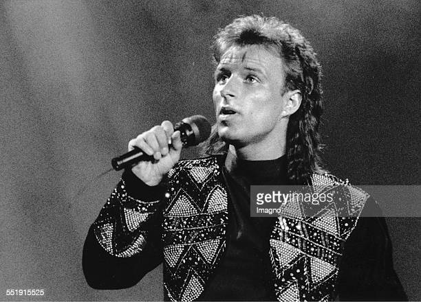 Eurovision Song Contest 1991 Singer Thomas Forstner represents Austria with the song 'Venedig im Regen ' Photograph 1991