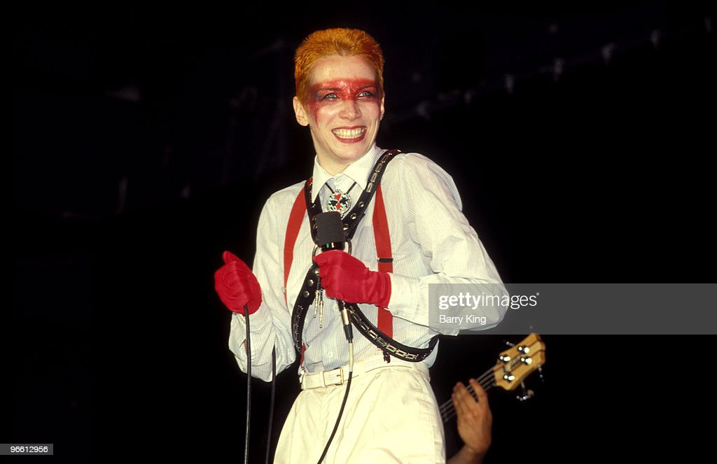 Eurythmics Annie Lennox performs at the Palace in Hollywood, California.