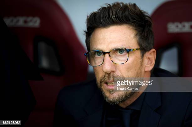 Eusebio Di Francesco coach of AS Roma looks on prior to the Serie A football match between Torino FC and AS Roma AS Roma won 10 over Torino FC