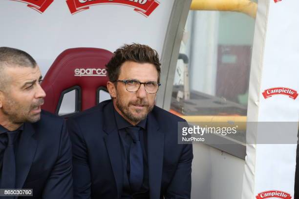 Eusebio Di Francesco head coach AS Roma before the Serie A football match between Torino FC and AS Roma at Olympic Grande Torino Stadium on 22...