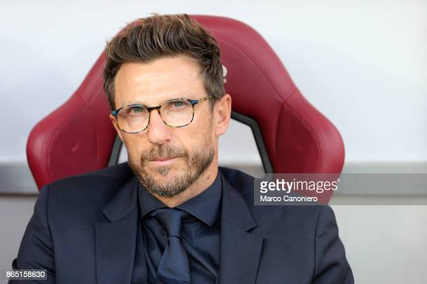 Eusebio Di Francesco head coach of As Roma looks on before the Serie A football match between Torino Fc and As Roma As Roma wins 10 over Torino Fc