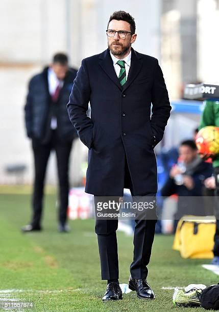 Eusebio Di Francesco head coach of Sassuolo during the Serie A match between US Sassuolo Calcio and Empoli FC at Mapei Stadium Città del Tricolore on...