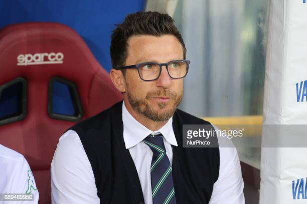 Eusebio Di Francesco head coach of US Sassuolo during the Serie A football match between Torino FC and US Sassuolo at Olympic stadium Grande Torino...