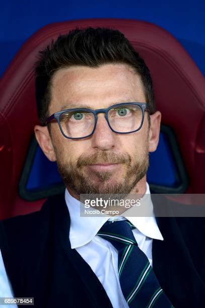 Eusebio Di Francesco head coach of US Sassuolo looks on prior to the Serie A football match between Torino FC and US Sassuolo Torino FC wins 53 over...