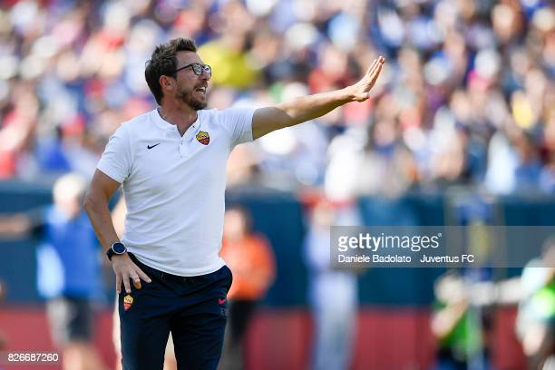 Eusebio Di Francesco of Roma in action during the International Champions Cup 2017 match between AS Roma and Juventus at Gillette Stadium on July 30...