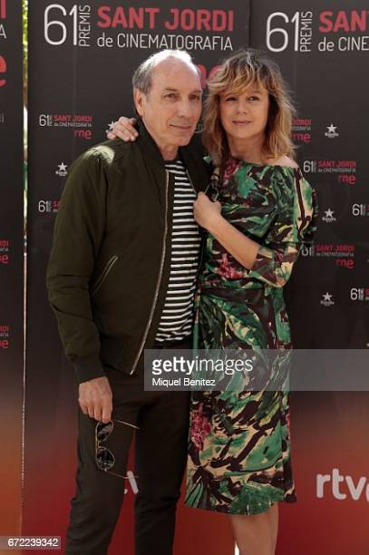Eusebio Poncela and emma Suarez attend the press conference of 'Sant Jordi' Cinematography Awards 2017 at Arts Hotel on April 24 2017 in Barcelona...