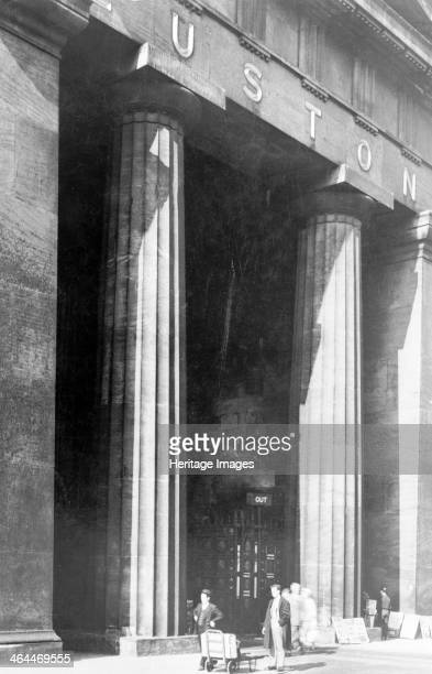 Euston Arch Euston Station Camden London Designed by Philip Hardwick the arch the largest Greek propylaeum ever built was completed in 1837 Generally...