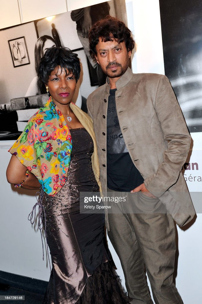Euzhan Palcy and Irrfan Khan attend the 'Festival Extravagant India' during the 1st Indian Film Festival at Espace Pierre Cardin on October 15, 2013 in Paris, France.