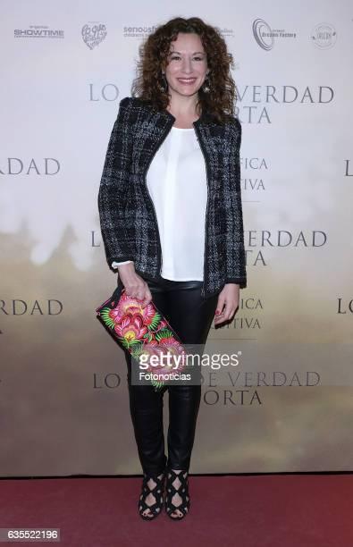 Eva Almaya attends the 'Lo Que De Verdad Importa' premiere at the Hotel Vincci Capitol on February 15 2017 in Madrid Spain