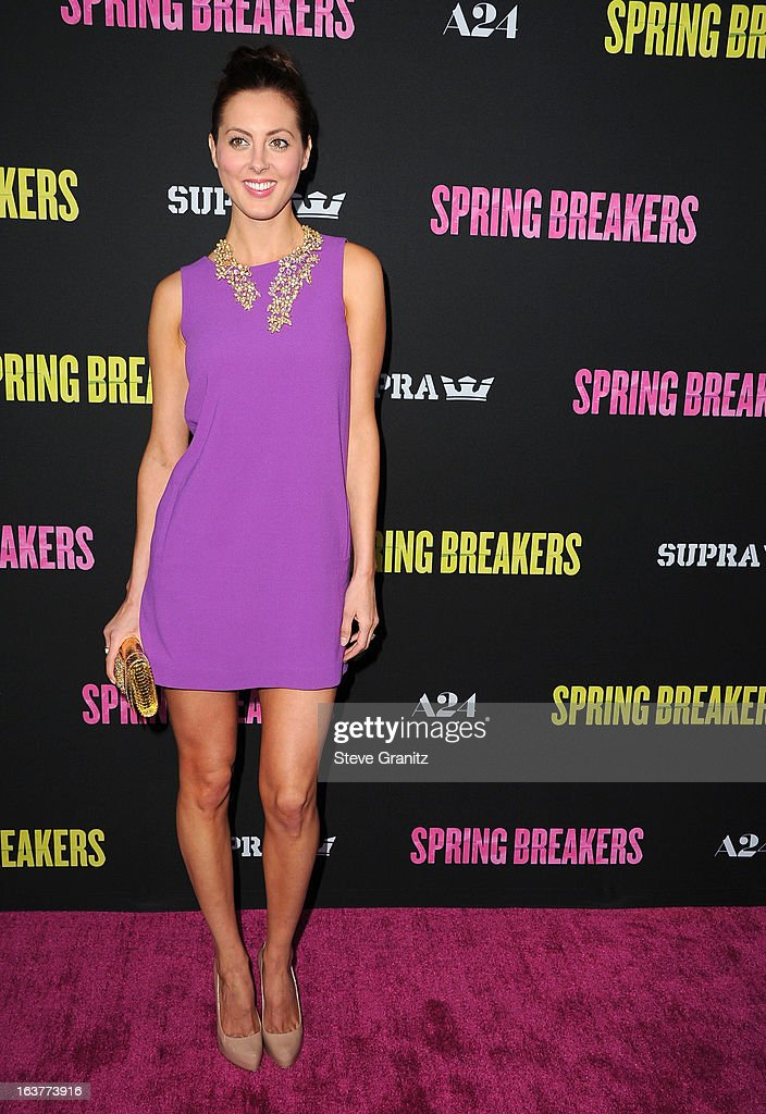 Eva Amurri arrives at the 'Spring Breakers' Los Angeles Premiere at ArcLight Hollywood on March 14, 2013 in Hollywood, California.