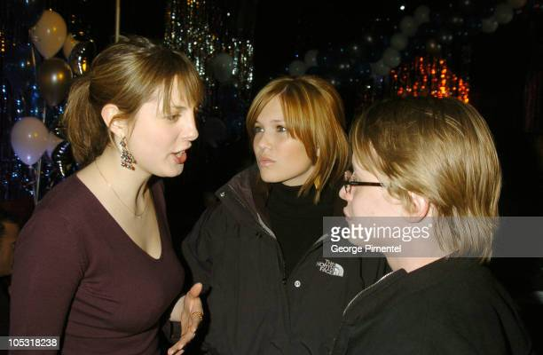 Eva Amurri Mandy Moore and Macaulay Culkin during 2004 Park City Xbox Hosts 'Saved' AfterParty at 1167 Woodside Ave in Park City Utah United States