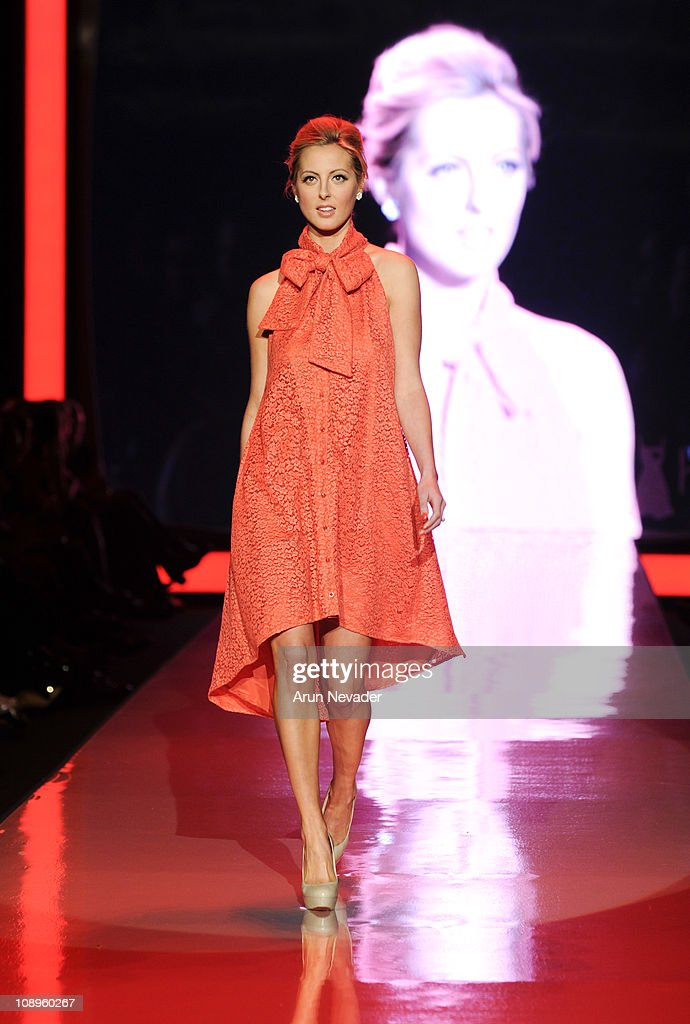 Eva Amurri wearing Chris Benz walks the runway at the Heart Truth Fall 2011 fashion show during Mercedes-Benz Fashion Week at The Theatre at Lincoln Center on February 9, 2011 in New York City.
