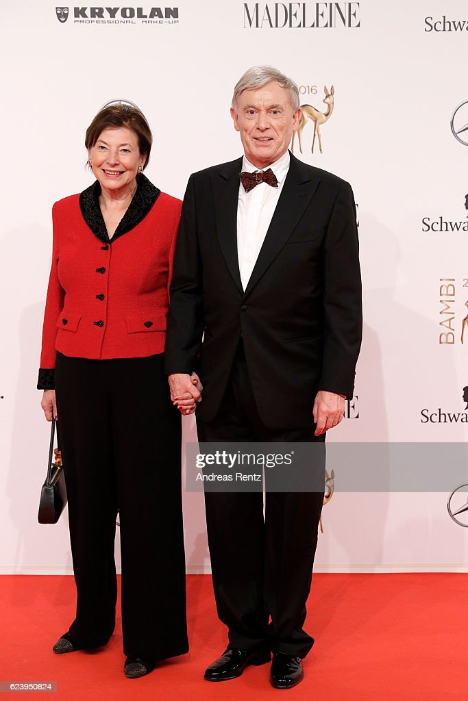 Eva and Horst Koehler arrive at the Bambi Awards 2016 at Stage Theater on November 17, 2016 in Berlin, Germany.