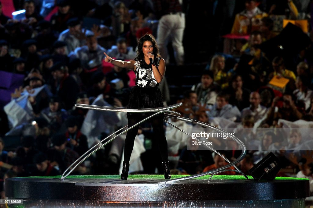 Eva Avila performs during the Closing Ceremony of the Vancouver 2010 Winter Olympics at BC Place on February 28, 2010 in Vancouver, Canada.