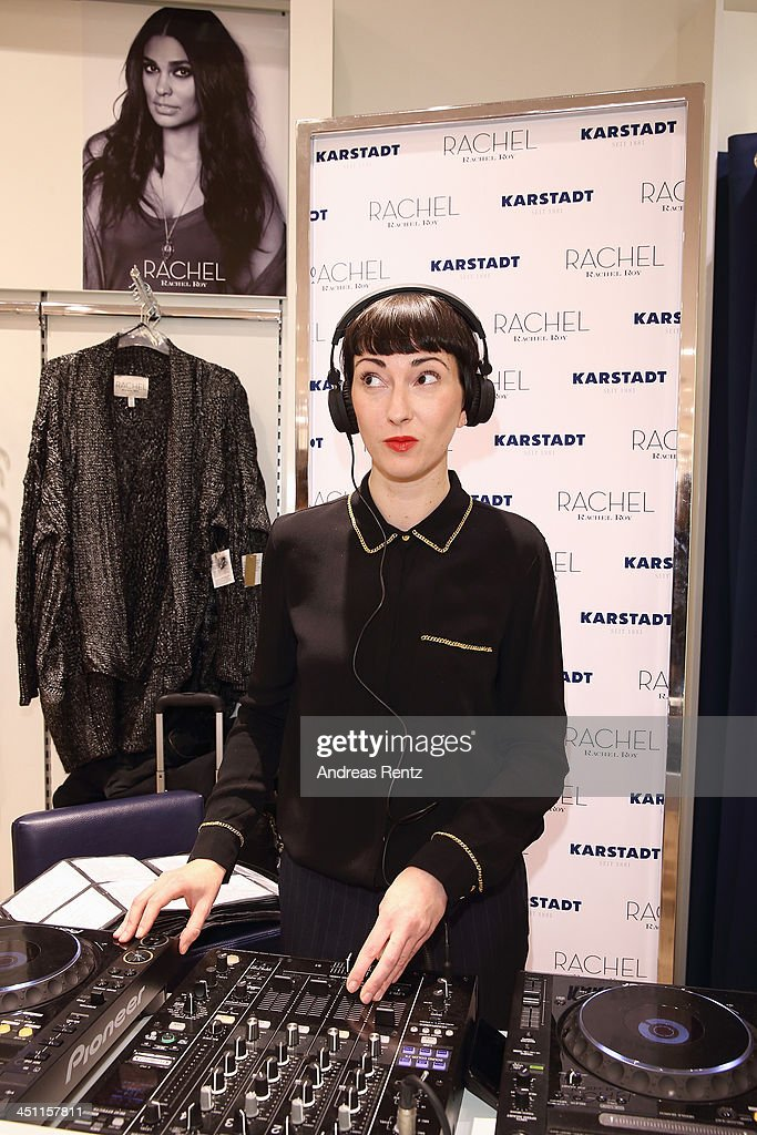 DJ Eva Be. attends the Rachel Roy collection presentation at Karstadt on November 21, 2013 in Hamburg, Germany.