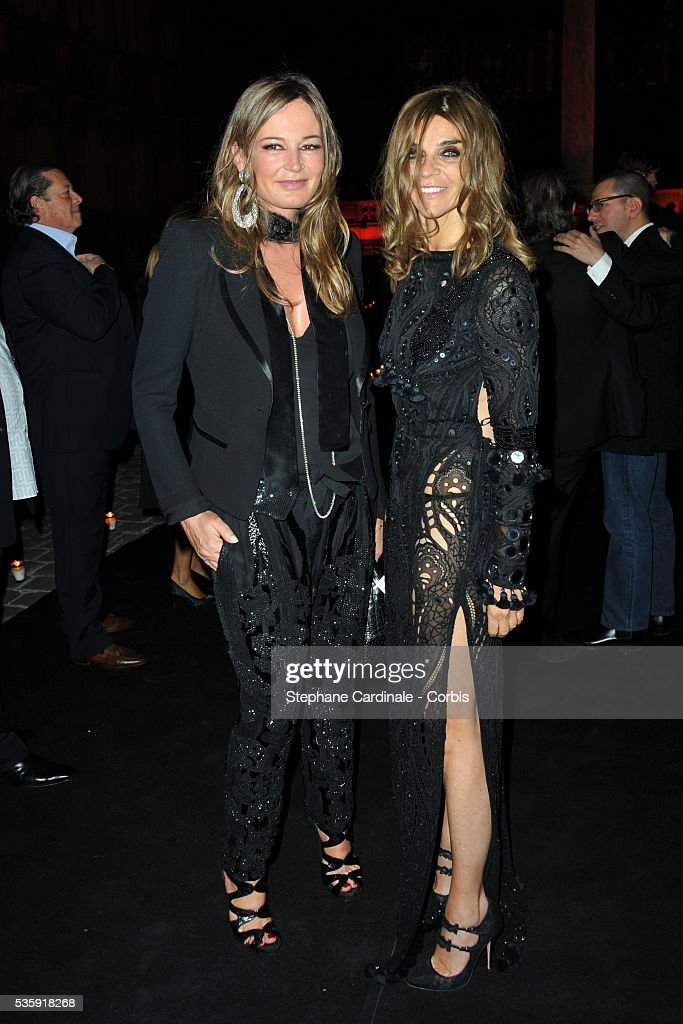 Eva Cavalli and Carine Roitfeld attend the Roberto Cavalli Celebrate 40 Party at 'Les Beaux-Arts' in Paris.