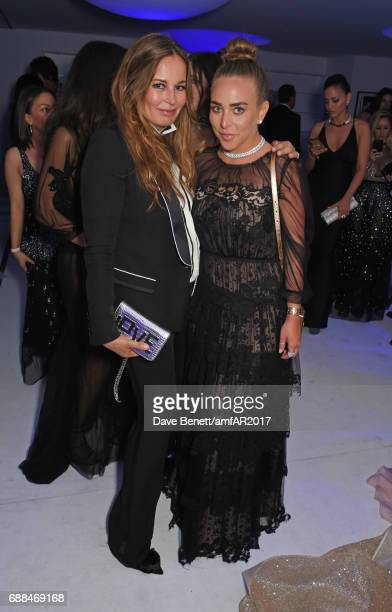 Eva Cavalli and Chloe Green attend the amfAR Gala Cannes 2017 at Hotel du CapEdenRoc on May 25 2017 in Cap d'Antibes France