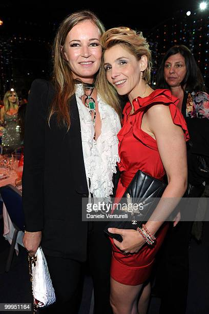 Eva Cavalli and Clotilde Courau attend the World Music Awards 2010 at the Sporting Club on May 18 2010 in Monte Carlo Monaco