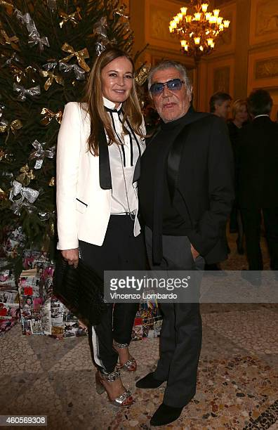 Eva Cavalli and Roberto Cavalli attend the 'Fondazione IEO CCM' Christmas Dinner For on December 16 2014 in Monza Italy