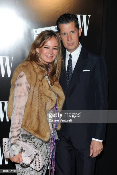 Eva Cavalli and Stefano Tonchi attend the Style Star Party at Carlton Beach during the 63rd Annual International Cannes Film Festival on May 21 2010...