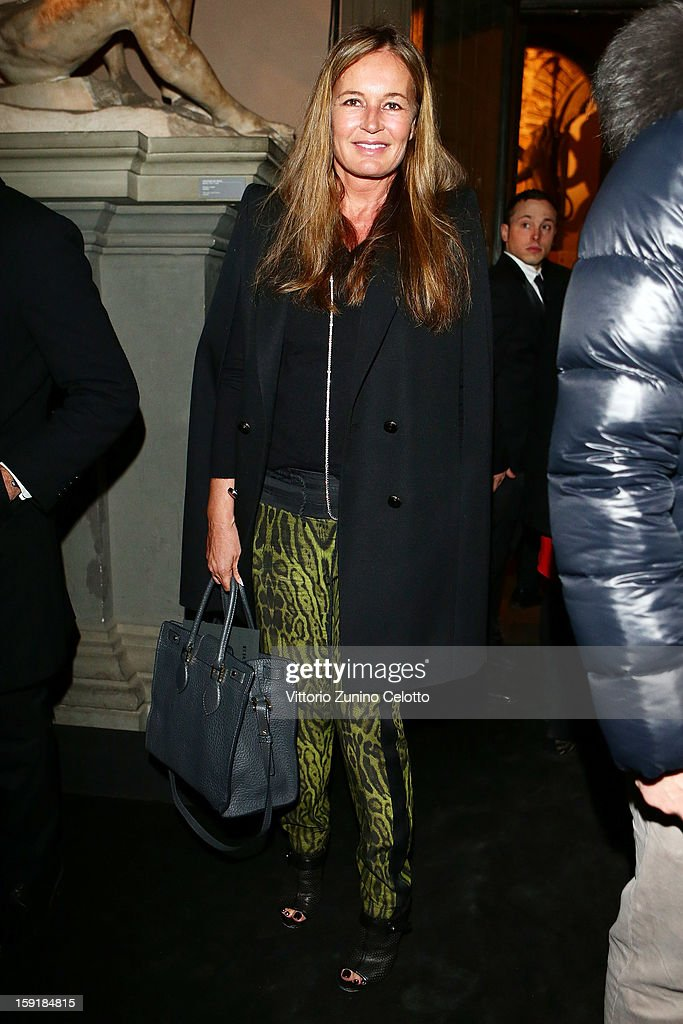 <a gi-track='captionPersonalityLinkClicked' href=/galleries/search?phrase=Eva+Cavalli&family=editorial&specificpeople=1719408 ng-click='$event.stopPropagation()'>Eva Cavalli</a> attends Ermanno Scervino fashion show as part of Pitti Immagine Uomo 83 at Palazzo Vecchio on January 9, 2013 in Florence, Italy.