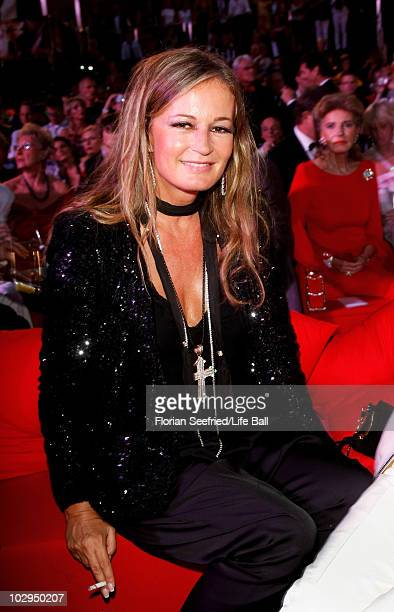 Eva Cavalli attends the 18th Life Ball at the Town Hall on July 17 2010 in Vienna Austria The Life Ball is an annual charity ball raising funds for...