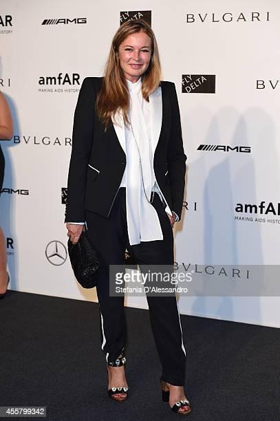 Eva Cavalli attends the amfAR Milano 2014 Gala as part of Milan Fashion Week Womenswear Spring/Summer 2015 on September 20 2014 in Milan Italy