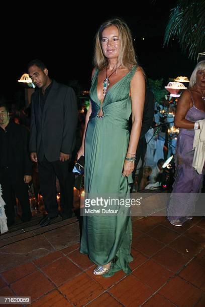 Eva Cavalli attends the Fawaz Gruosi Birthday Party at the Billionhaire on August 8 2006 in Porto Cervo Sardinia
