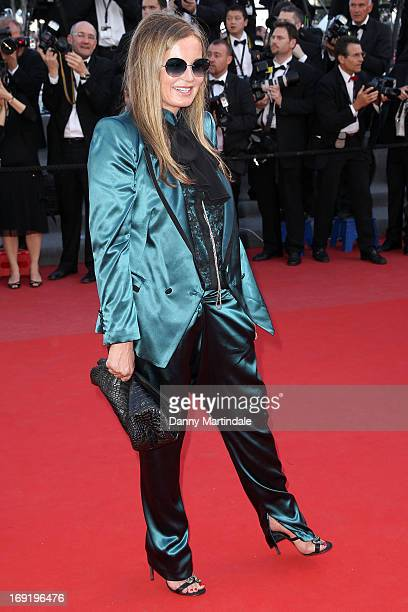 Eva Cavalli attends the Premiere of 'Behind the Candelabra' during the 66th Annual Cannes Film Festival at Palais des Festivals on May 21 2013 in...