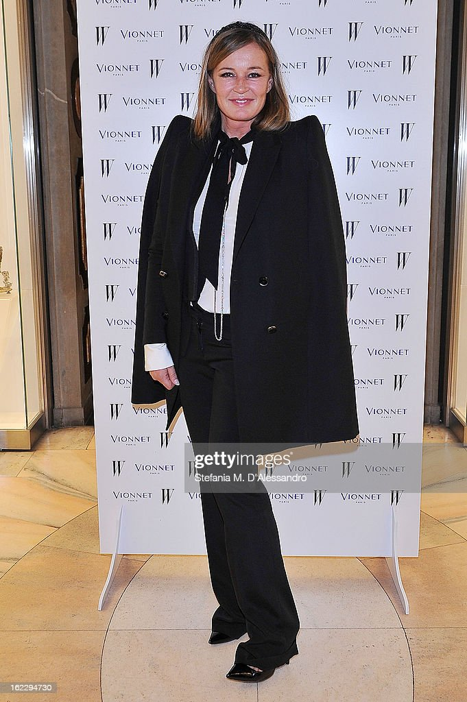 <a gi-track='captionPersonalityLinkClicked' href=/galleries/search?phrase=Eva+Cavalli&family=editorial&specificpeople=1719408 ng-click='$event.stopPropagation()'>Eva Cavalli</a> attends W And Vionnet Hosts The Thayaht Exhibition on February 21, 2013 in Milan, Italy.