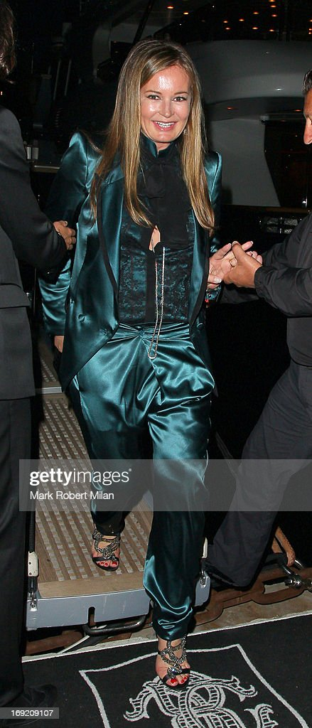 <a gi-track='captionPersonalityLinkClicked' href=/galleries/search?phrase=Eva+Cavalli&family=editorial&specificpeople=1719408 ng-click='$event.stopPropagation()'>Eva Cavalli</a> leaving Roberto Cavalli's yacht during The 66th Annual Cannes Film Festival on May 21, 2013 in Cannes, France.