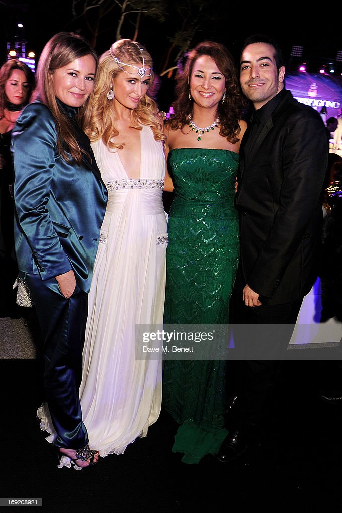 <a gi-track='captionPersonalityLinkClicked' href=/galleries/search?phrase=Eva+Cavalli&family=editorial&specificpeople=1719408 ng-click='$event.stopPropagation()'>Eva Cavalli</a>, <a gi-track='captionPersonalityLinkClicked' href=/galleries/search?phrase=Paris+Hilton&family=editorial&specificpeople=171761 ng-click='$event.stopPropagation()'>Paris Hilton</a>, Hind El Achchabi and <a gi-track='captionPersonalityLinkClicked' href=/galleries/search?phrase=Mohammed+Al+Turki&family=editorial&specificpeople=7520874 ng-click='$event.stopPropagation()'>Mohammed Al Turki</a> attend the de Grisogono Party during the 66th International Cannes Film Festival at Hotel Du Cap on May 21, 2013 in Antibes, France.