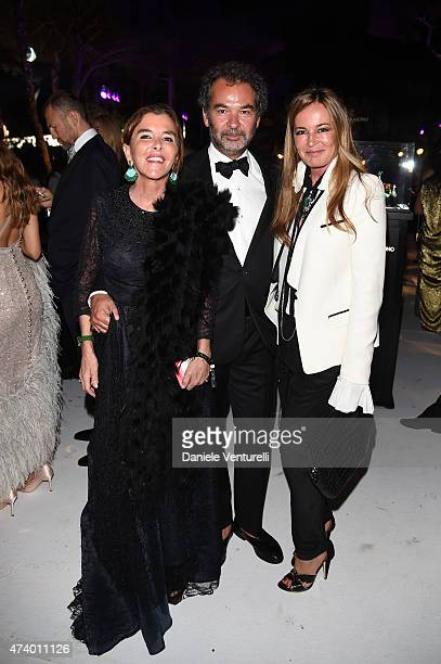 Eva Cavalli Remo Ruffini and guest attend the De Grisogono party during the 68th annual Cannes Film Festival on May 19 2015 in Cap d'Antibes France