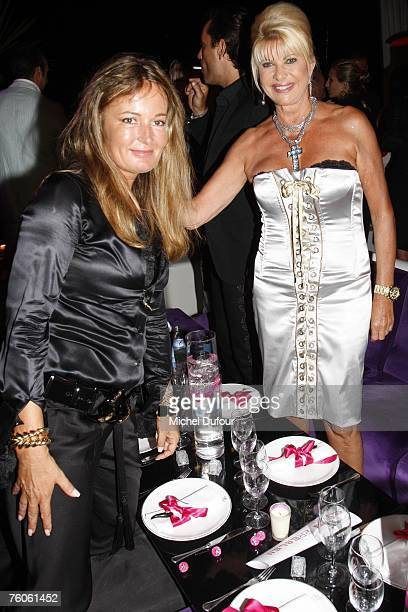 Eva Cavalli with Ivana Trump attend the Fawaz Gruosi birthday party at the Billionaire on August 8 2007 in Porto Cervo Italy