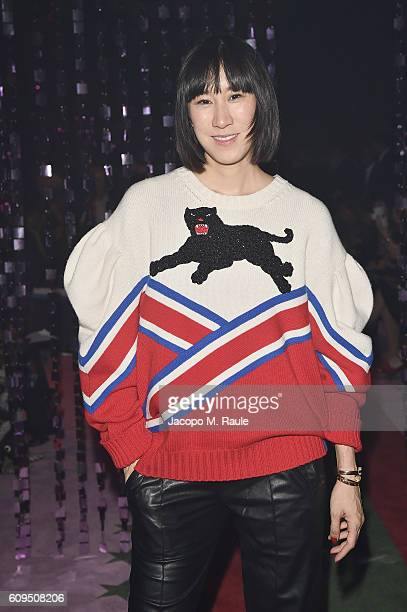 Eva Chen attends the Gucci show during Milan Fashion Week Spring/Summer 2017 on September 21 2016 in Milan Italy