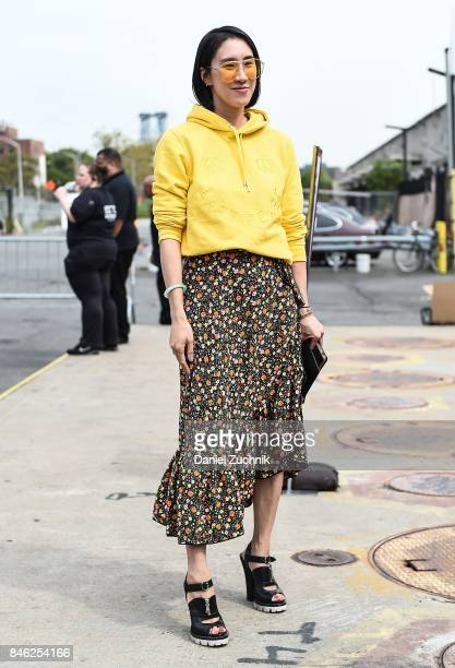 Eva Chen is seen outside the Coach show during New York Fashion Week Women's S/S 2018 on September 12 2017 in New York City