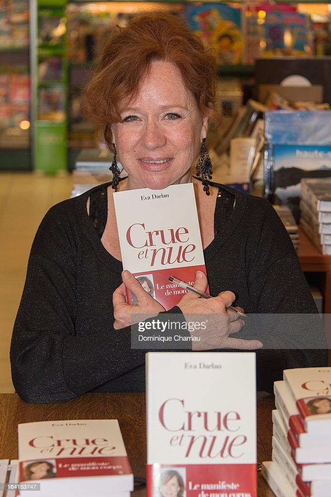 Eva Darlan signs copy of her book 'Crue et nue' at The 29th International Festival Mont-Blanc D'Humour on March 20, 2013 in Saint-Gervais-les-Bains, France.