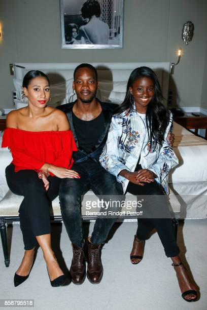 Eva Dollin Ahmed Drame and Karidja Toure attend 'Suite Michele Morgan Opening' at Hotel Majestic Barriere on October 7 2017 in Cannes France