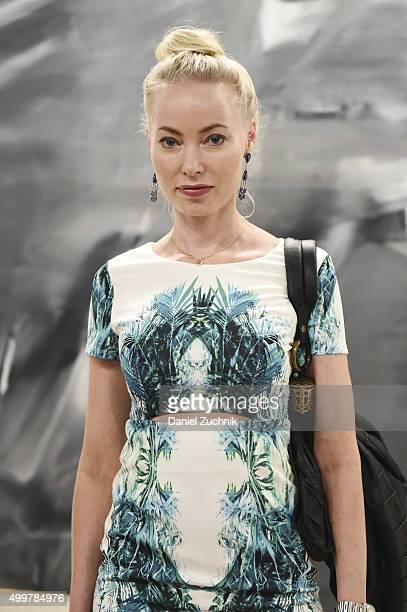 Eva Fahler is seen wearing a dress from Nasty Gal and a Chloe bag during Art Basel Miami Beach at the Miami Beach Convention Center on December 2...