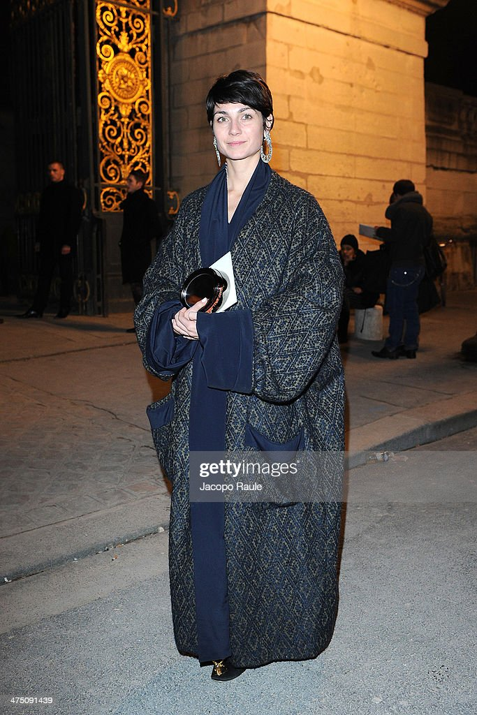 Eva Fontanelli attends the Vionnet show as part of the Paris Fashion Week Womenswear Fall/Winter 2014-2015 on February 26, 2014 in Paris, France.