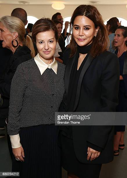 Eva Galambos and Christine Centenera pose during the Australian Fashion Foundation Awards 2016/17 on December 19 2016 in Sydney Australia