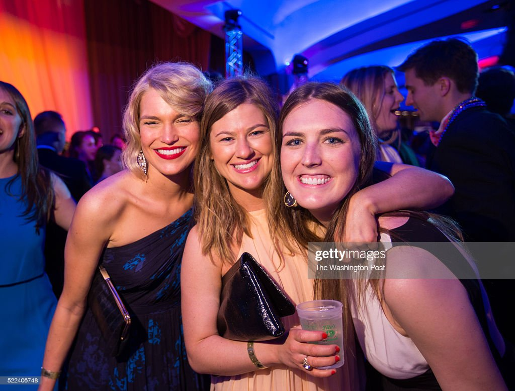 Eva Gavrish, Laura Carmichael and Lollie Corrigan pose for a photo on the dance floor at the 34th annual Taste of the South charity gala on Saturday, April 16 at the Washington Hilton in Washington, D.C. Taste of the South is a D.C.-based charity, founded by Southerners living in Washington, that has donated over $4 million to southern based charities since 1982.