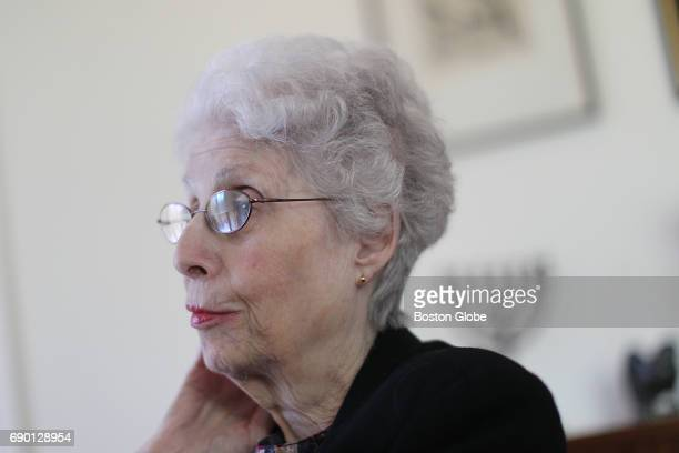 Eva Glaser heir of Viennese Jews who fled Austria to escape the Nazis in the late 1930s poses for a portrait in Canton MA on May 3 2017 Glaser and...