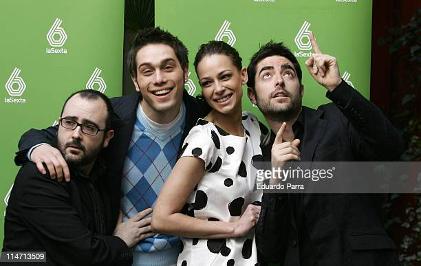 Eva Gonzalez and cast of 'Fenomenos' during Eva Gonzalez Presents Her New TV Show 'Fenomenos' April 17 2007 at Bauza Hotel in Madrid Spain