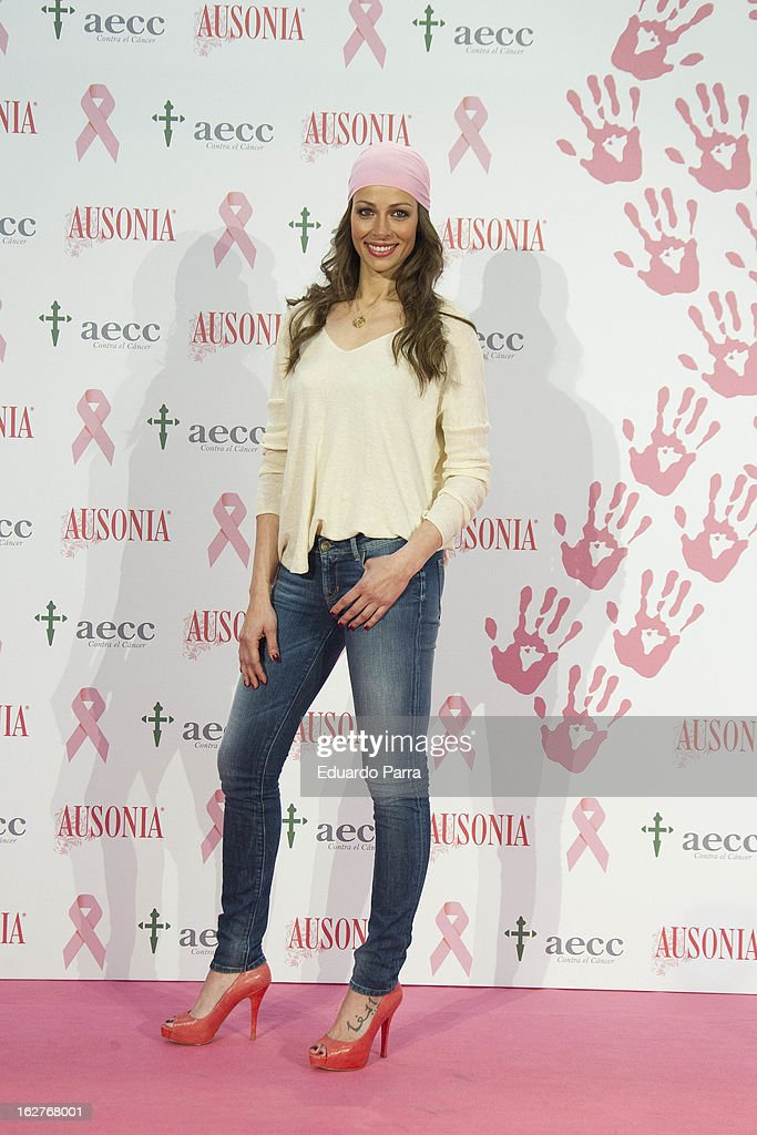Eva Gonzalez attends 'Juntos Somos Mas Fuertes' campaign photocall against breast cancer on February 26, 2013 in Madrid, Spain.