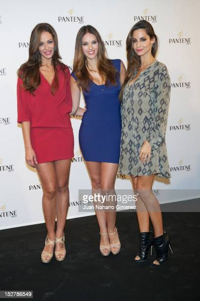 Eva Gonzalez Helen Lindes and Ariadne Artiles attend 'Pelo Pantene 2012' presentation at Milk Studio on September 26 2012 in Madrid Spain