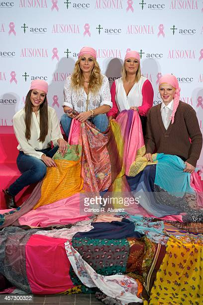 Eva Gonzalez Marta Sanchez Terelu Campos and Bimba Bose attend 'Bandera de la Esperanza' new campaign against cancer presentation at the Petit Palace...