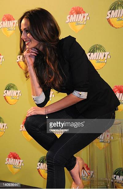 Eva Gonzalez Miss Spain 2003 and girlfriend of the Spanish matador Cayetano Rivera during the presentation of Smint candy 9th March 2011 Madrid Spain