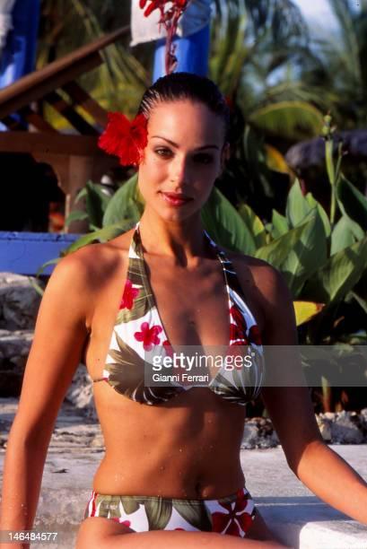 Eva Gonzalez Miss Spain 2003 during her holiday in Costa Esmeralda 20th July 2003 Holguin Cuba